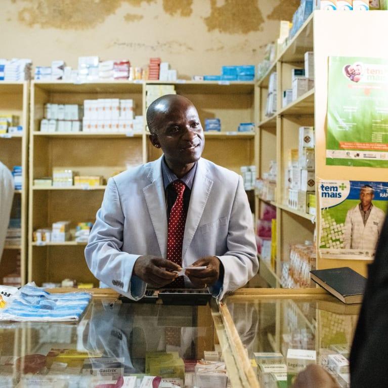 Clinic at Bailundo municipal hospital, Angola