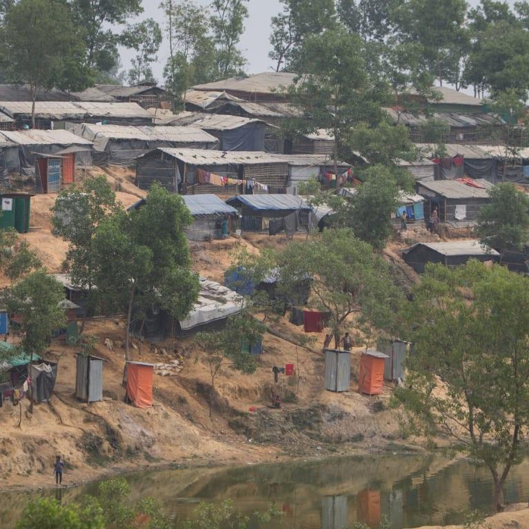 Une vue d'ensemble du camp de réfugiés rohingyas de Cox's Bazar, au Bangladesh. Photo : Ralph Hodgson/Tearfund