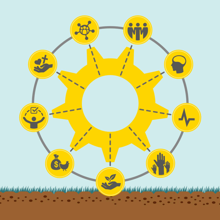 Cover illustration of the 'Light Wheel' framework for measuring change holistically