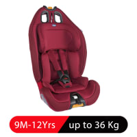 Chicco Gro-Up 123 Baby Car Seat Red Passion