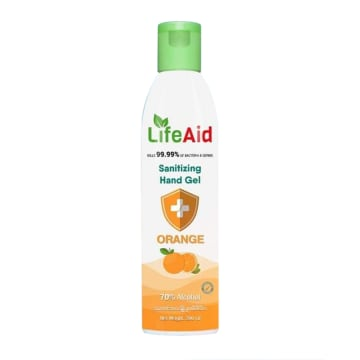 Life Aid Santizing Hand Gel (200ml)Orange