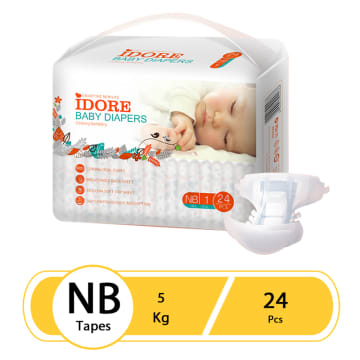 Idore Baby Diaper Pants NB(24 Pcs)