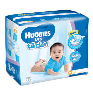 Huggies Diaper Super Jumbo M 74 Pcs