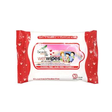 Beaute Life Wet Tissue - Red 10's