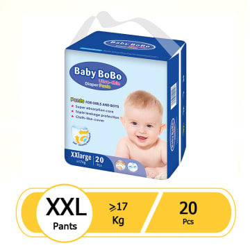 Baby BoBo Ultra-Thin Baby Diaper Pants - XXL (20pcs)