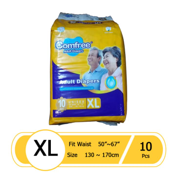 Comfree Adult Diaper XL 10pcs