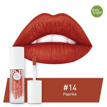 Baby Bright - Lip & Cheek Matte Tint#14Paprika