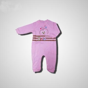 Baby Mommy Badysuit Interlock Pink Size-1 (0-1 M)