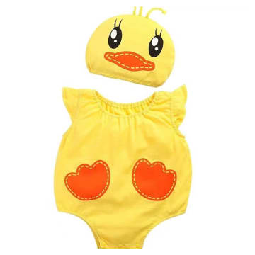 Duck Costume Romper Outfit Set - with hat