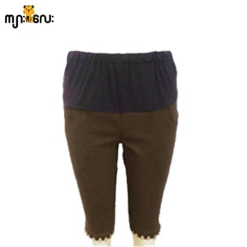 (Large Size ) Two Way Stretchable Brown 1/2 Pants