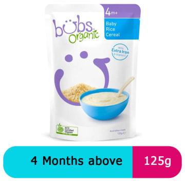 Bubs baby rice 4+ (125g)