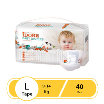 Idore Baby Diaper Tape L-40Pcs