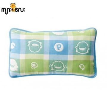 Piyo Piyo six Layer Cotton Gauze Pillow (Blue)