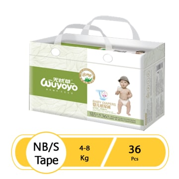 WUYOYO Baby Diaper Tape - NB/S (36 Pcs)