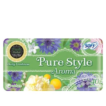 Sofy Pure Style Aroma Pantiliner Fresh Herbal - 14cm (40pcs)