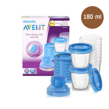 BREAST MILK STORAGE CUPS 180ml / 6 oz ( 0 m +) SCF-618/10