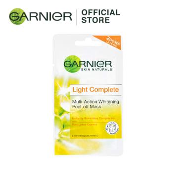 GARNIER Light Complete Whitening Peel Off mask - 2x6ml