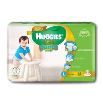 Huggies (Gold Pants)  Over Night  L 28 boy