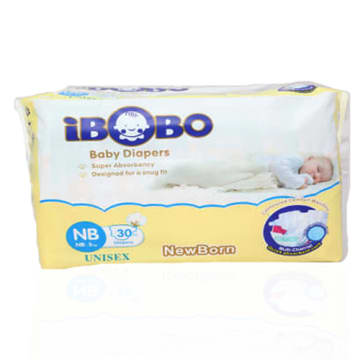 iBOBO Diaper Tape NB - (30 Pcs)