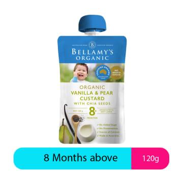 Bellamy's Organic Vanilla & Pear Custard (120g)
