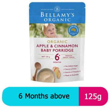 Bellamy's Organic Baby Rice 6+ apple porridge