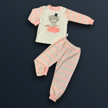100% Cotton  Teddy Bear Pink ( 3 Years)