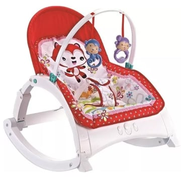 2 in 1 Baby Rocker (Red)