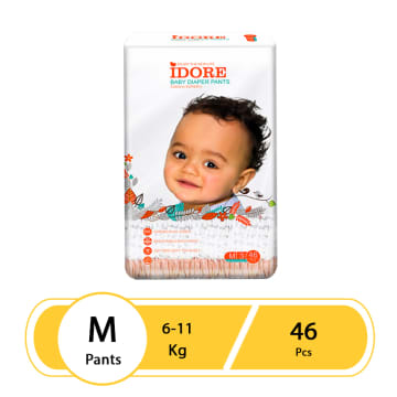 Idore Baby Diaper Pants M(46 Pcs)