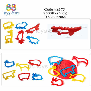 6pcs Animal Cutter