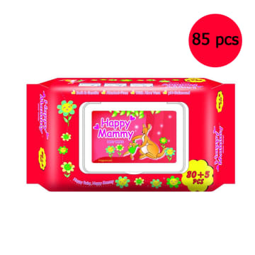 Happy Mammy Baby Wipes Red (85pcs)