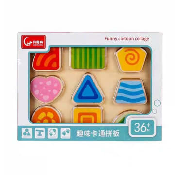 Funny Cartoon Puzzle (Shape)