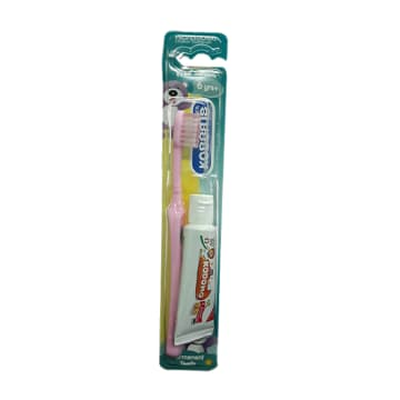 Kodomo-Children Toothbrush -6 years (Free Toothpaste)