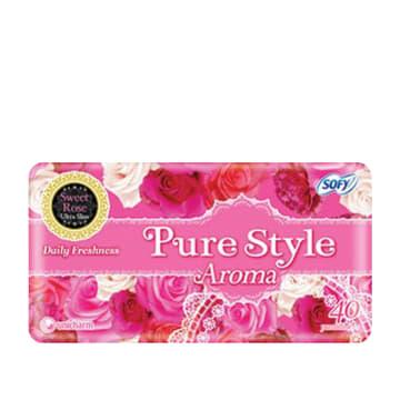 Sofy Pure Style Aroma Pantiliner Sweet Rose - 14cm (40pcs)