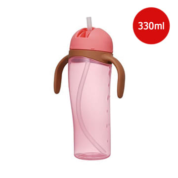 TALL STRAW BOTTLE (PINK)