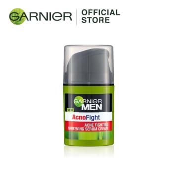 GARNIER MEN Acno Fight Anti- Acne Whitening Serum Cream - 40ml