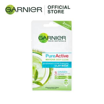 GARNIER Pure Active Matcha Deep Clean Clay Mask- 2x6ml