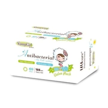 UUcare Young Girl Antibacterial Pantyliner 155mm 40s