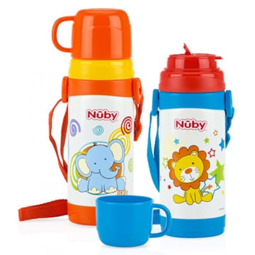 Nuby Stainless Steel Insulated Store N' Pour 360ml (4 years)