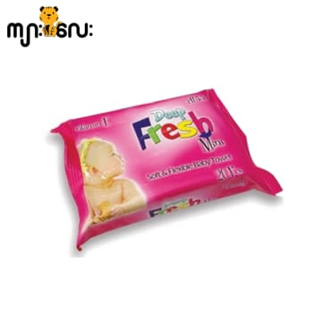 Deep Fresh Mini Wet Baby Wipes Travel Pack Pink 20 pcs