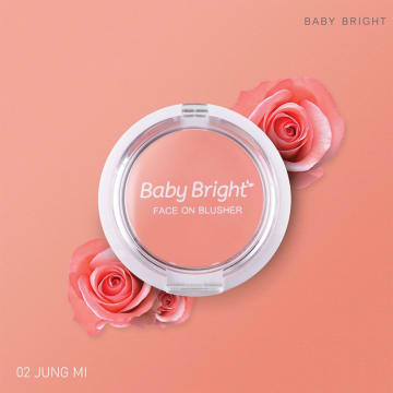 Baby Bright Face On Blusher 5g #02 Jung Mi