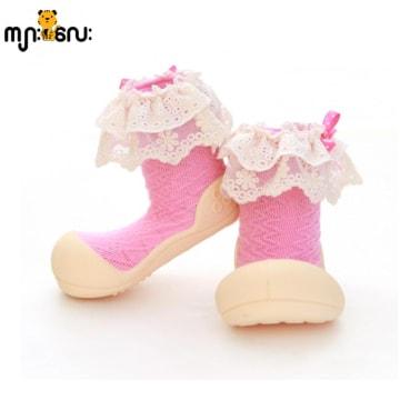 သားသားမီးမီးတို့ အတွက် ခြေအိပ်ပါပြီးသား ဖိနပ် (Attipas Lady pink)