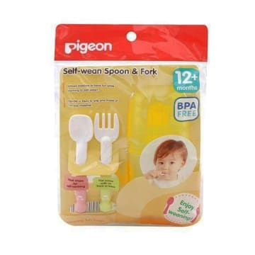 Pigeon-Baby Spoon & Fork Set With Travel Case