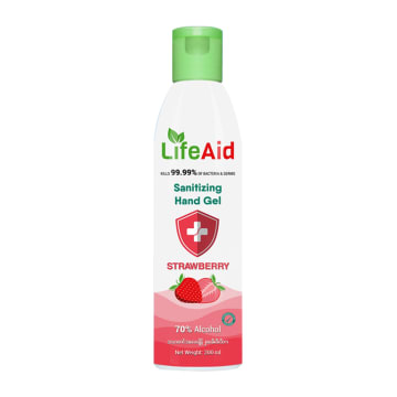 Life Aid Santizing Hand Gel (200ml)Strawberry