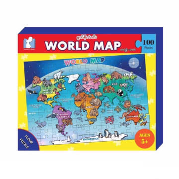 World Map Floor Puzzle (100 Pcs)  5+ Ages