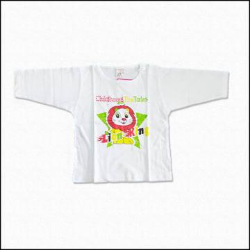 Cute Baby - White Long Sleeves Shirt  (0-3M)