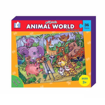 Animal World Floor Puzzle (36 Pcs) 3+ Ages