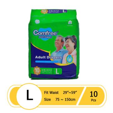 Comfree Adult Diaper L 10pcs