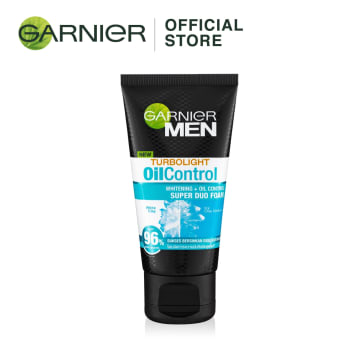 GARNIER MEN Turbo Light Oil Control white Super DUO Foam -50ml