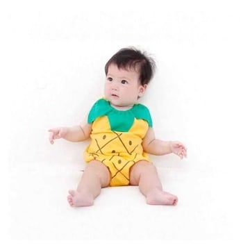 Pineapple Costume Romper Outfit Set