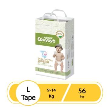 WUYOYO Baby Diaper L (56 Pcs)